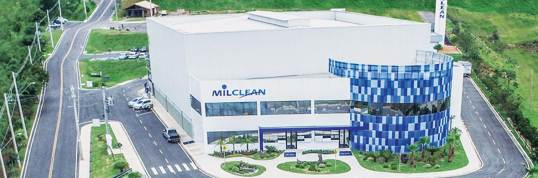 foto aérea da equipe milclean